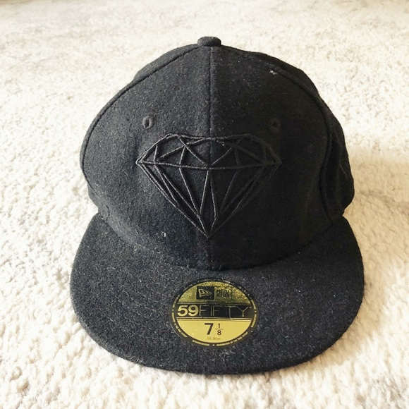 Black Diamond Supply Co. brilliant wool fitted cap. NWT. New Era c36cd8e3a